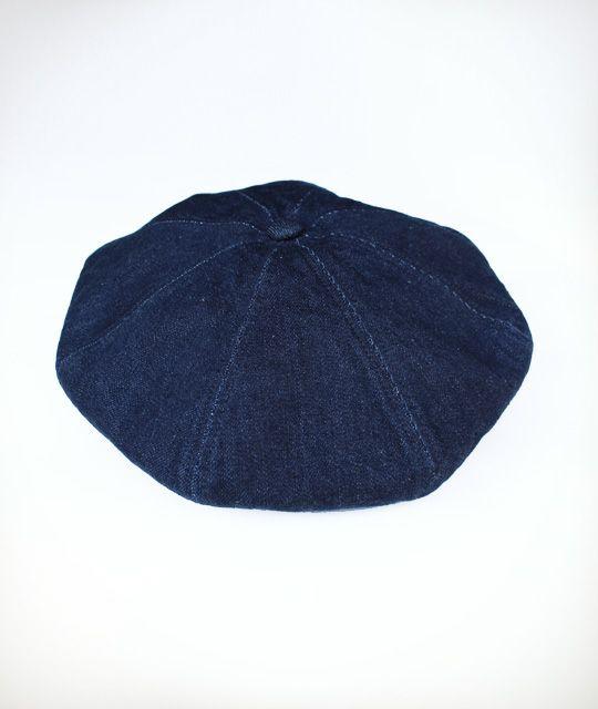 デニム ベレー帽