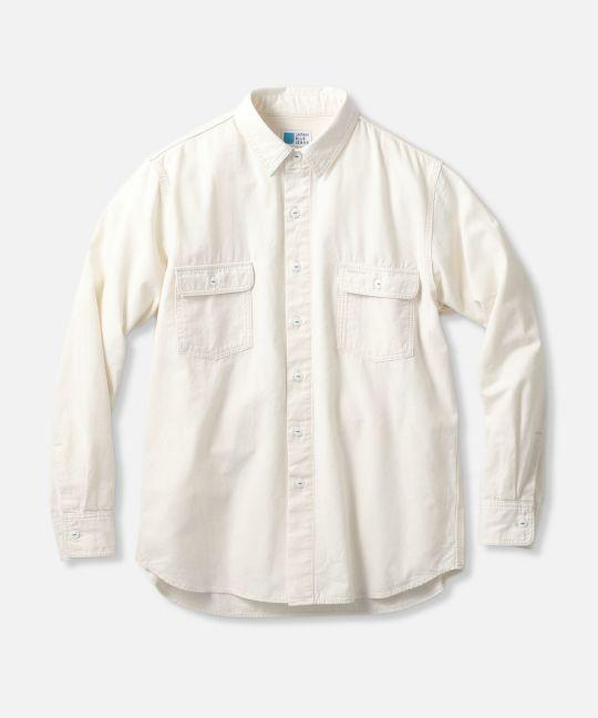 シャンブレー ワークシャツ