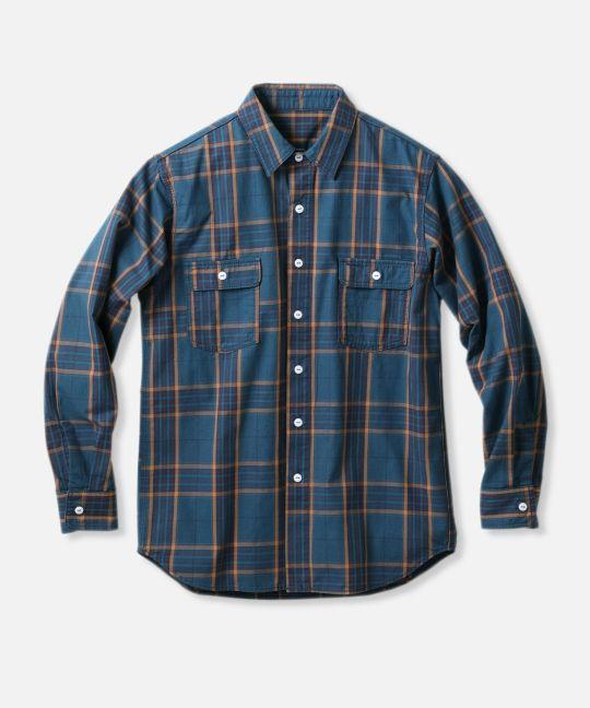 チェック ワークシャツ