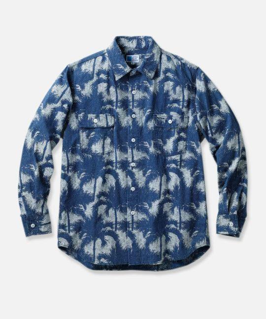 総柄 ワークシャツ